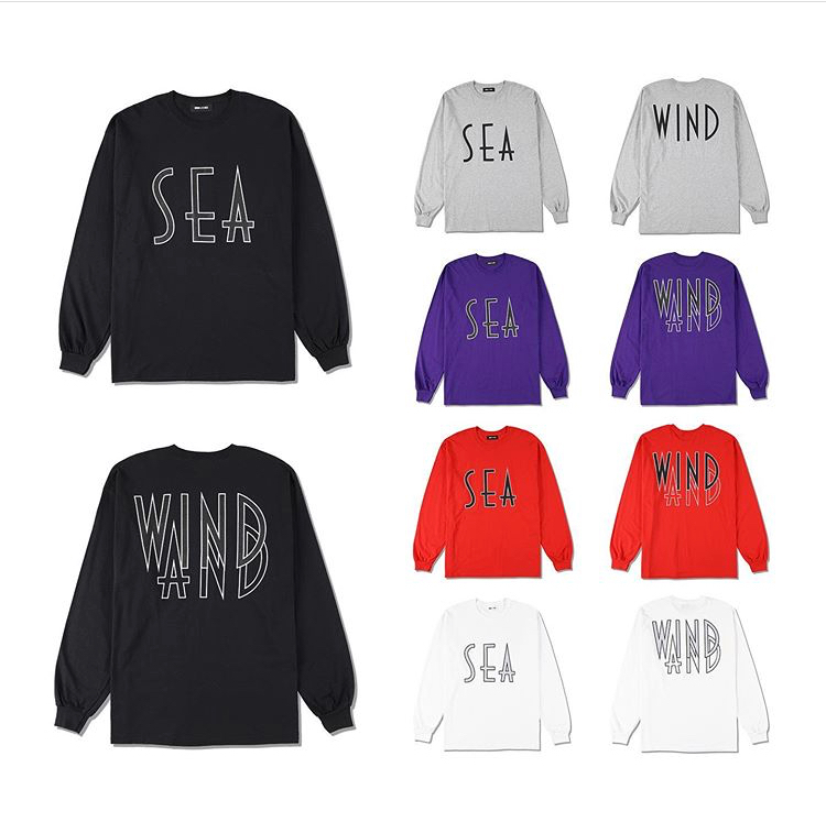 WDS SEA (wavy) L/S T-SHIRTS