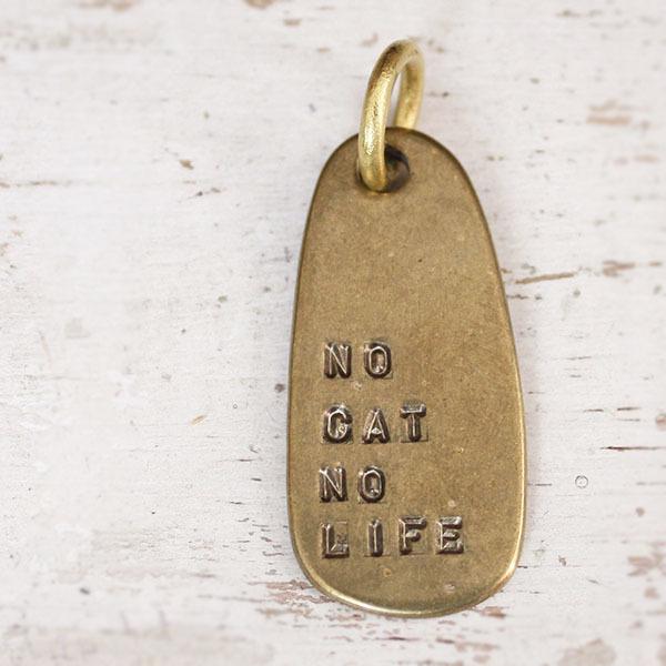 ※ご予約のお客様専用※ 真鍮のペンダント(NO CAT NO LIFE)