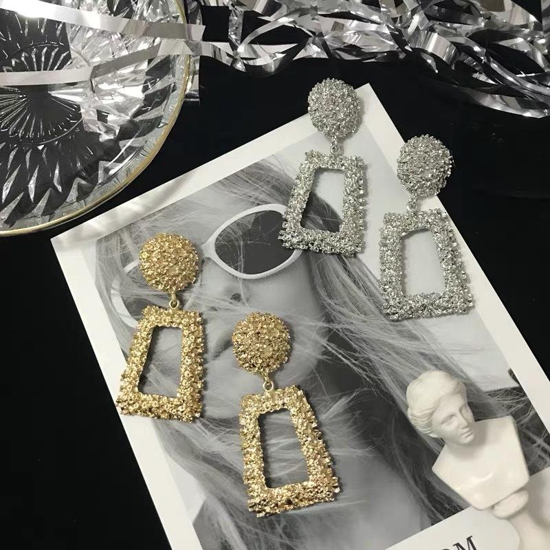 square glitter earrings