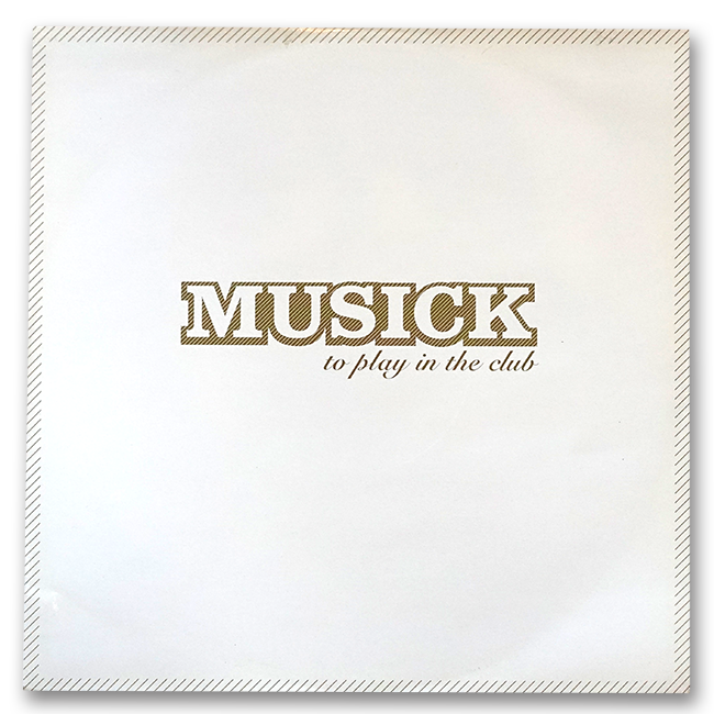 Various Artists ‎– Musick - To Play In The Club (EP) - 画像2