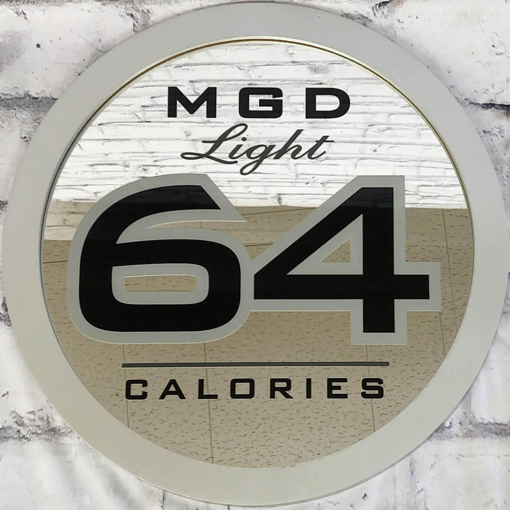 品番0026 パブミラー 『MGD light 64 CALORIES』 壁掛 アート ディスプレイ アメリカン雑貨