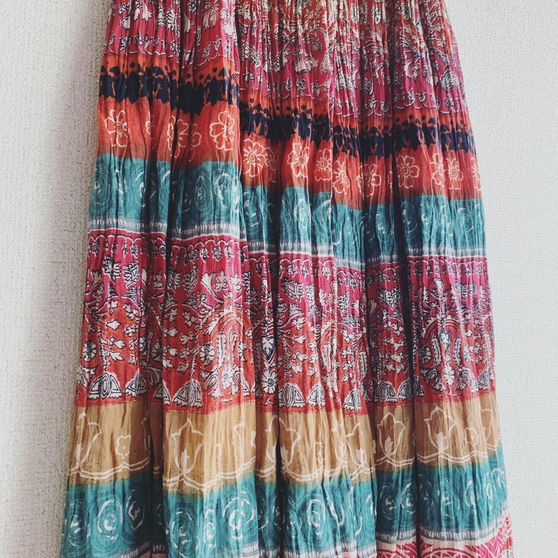 vintage Indian cotton skirt