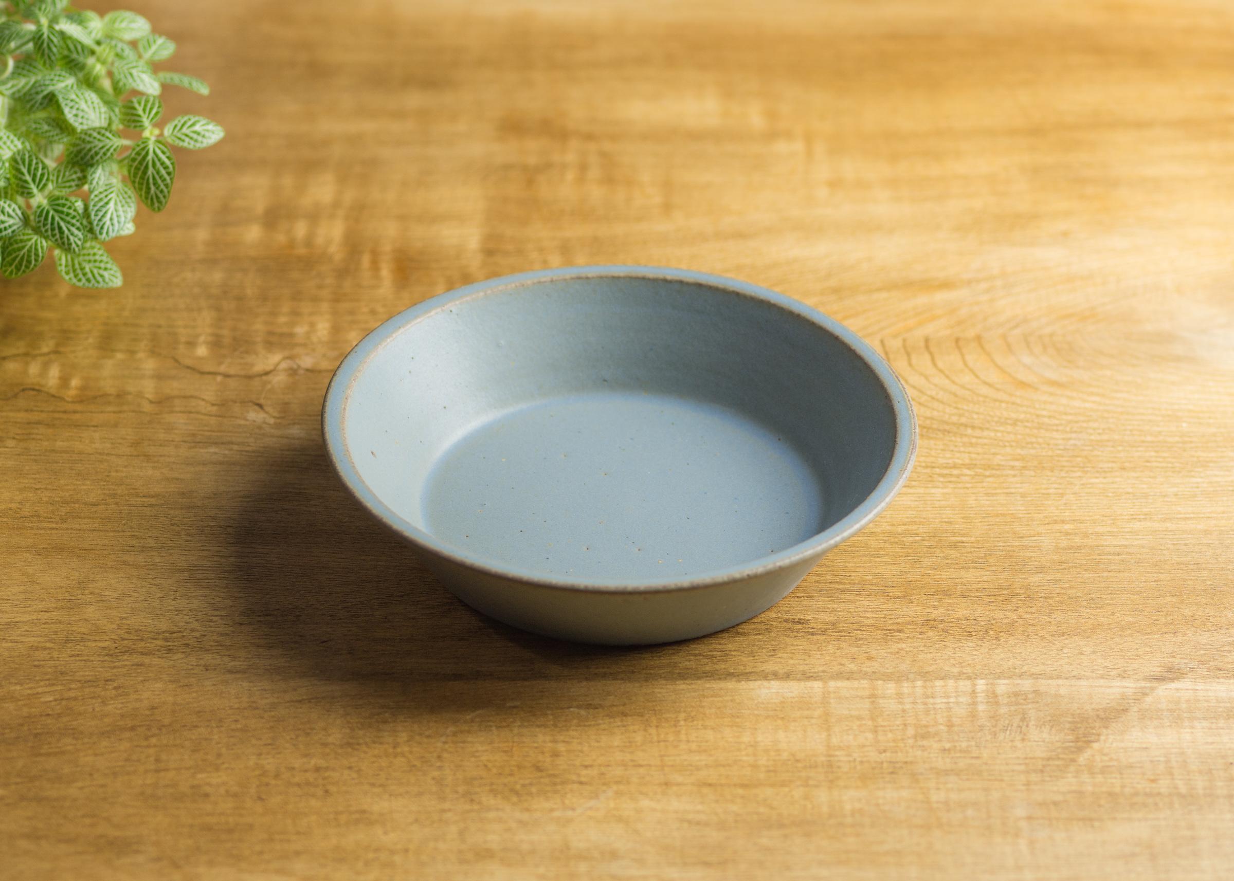 SHIROUMA 浅鉢 18cm 灰色(深皿・スープボウル・グラタン皿・耐熱皿)/長谷川 哲也