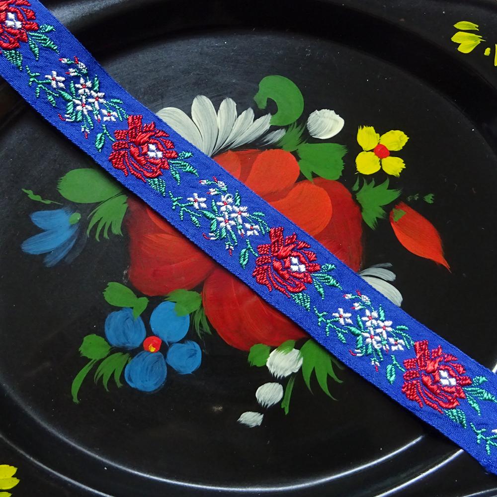 チェコ チロリアンテープ 2.2cm巾 50cm単位 / ブルー
