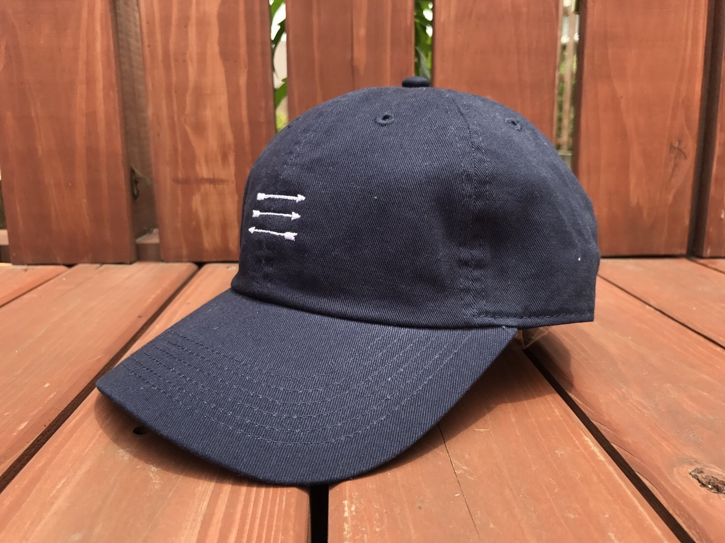 THREEARROW刺繍CAP(navy)