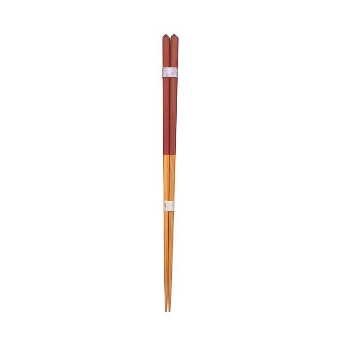 ダイヤカット箸(大)赤 【45-064】