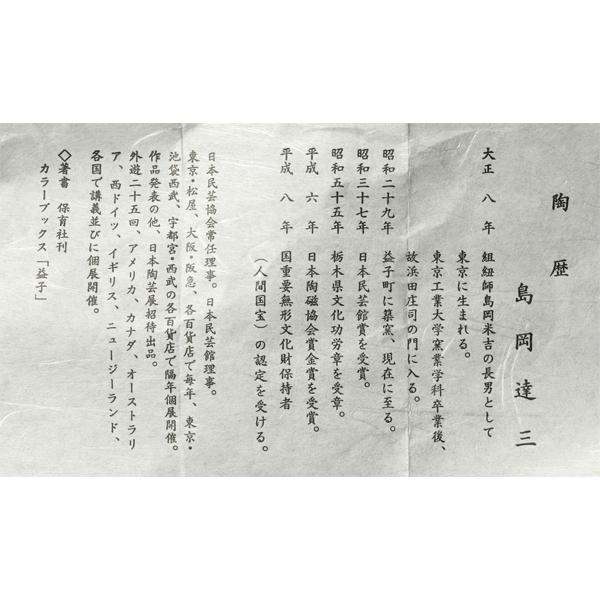 島岡達三 作 象嵌赤繪湯呑
