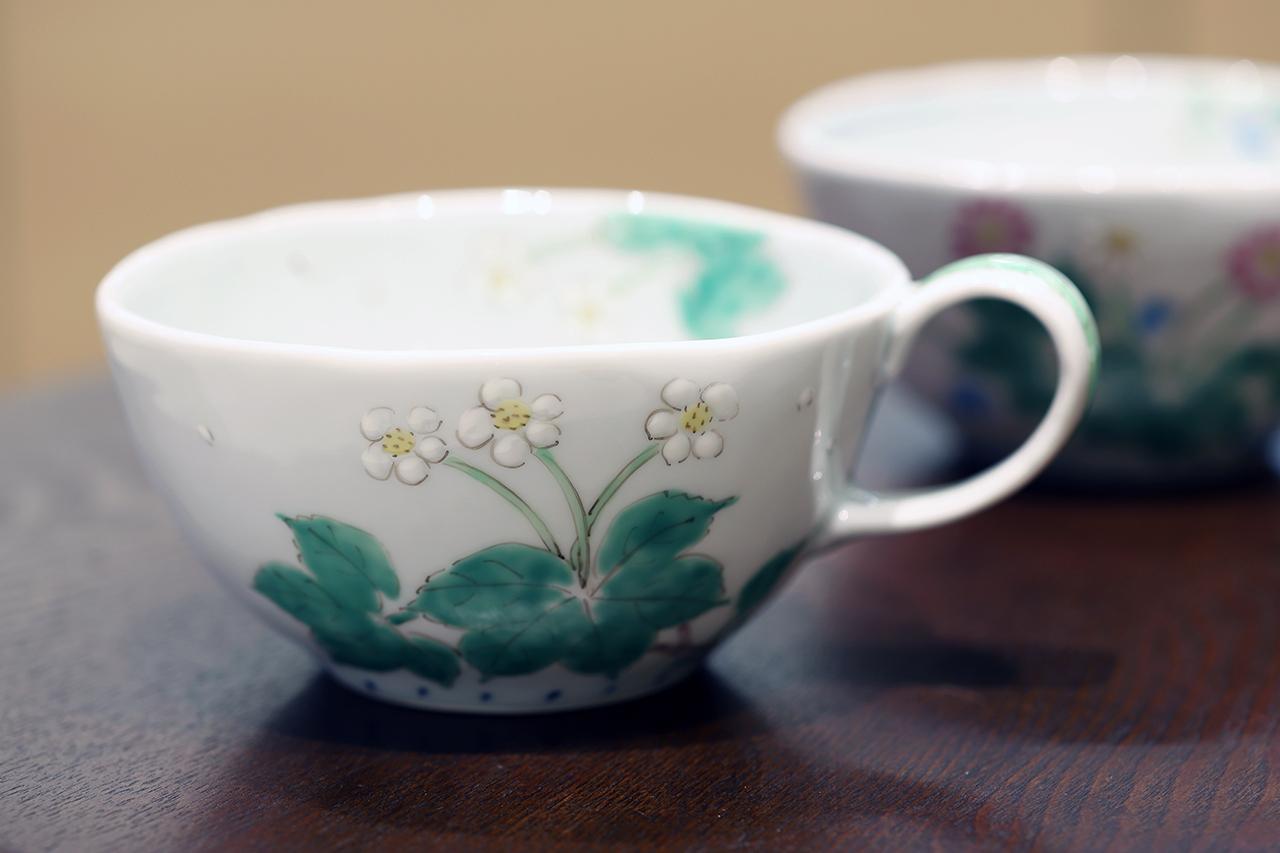 藍水 ハクサンイチゲ カフェボール うつわ藍水(波佐見焼)