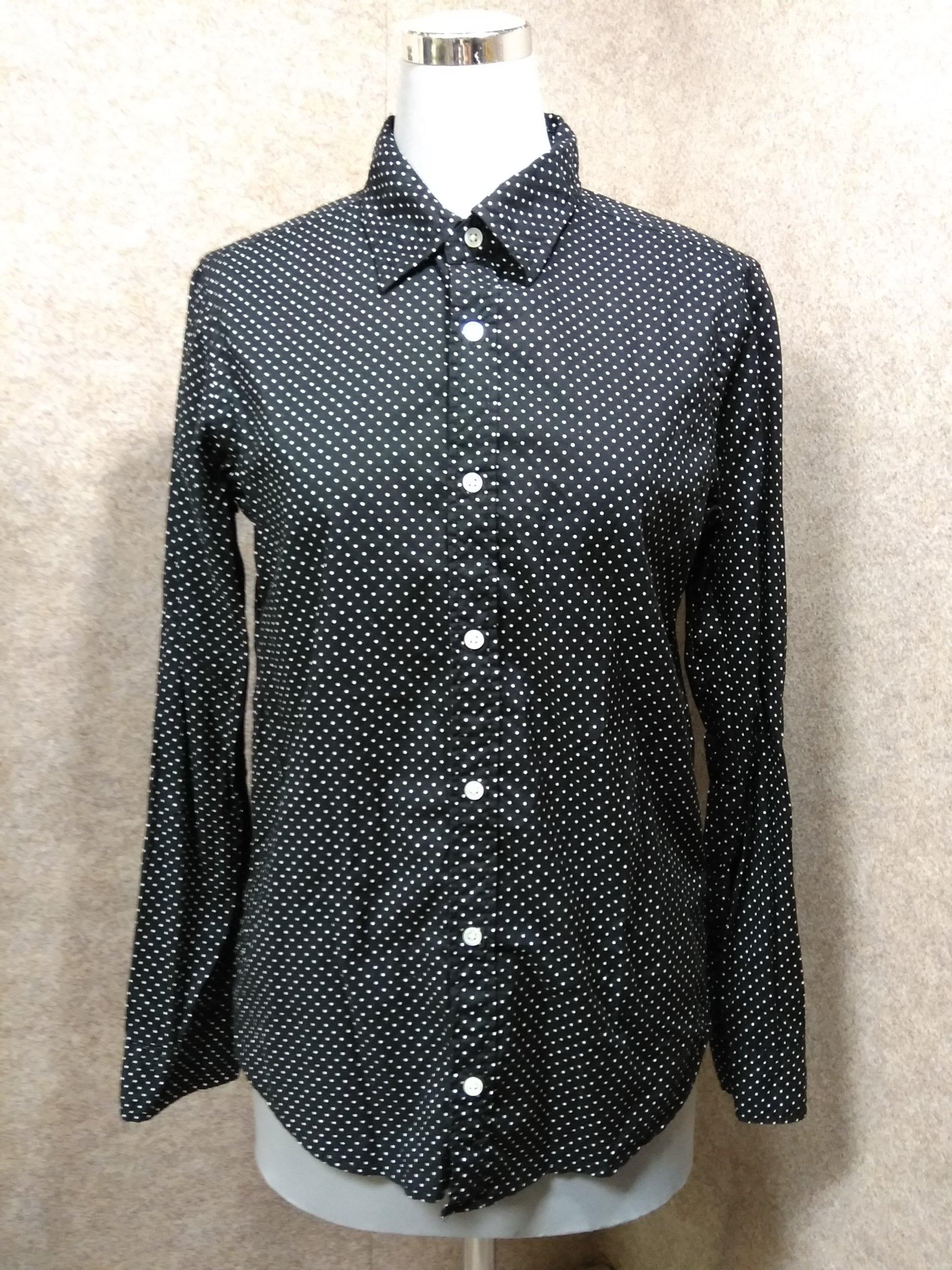 ジャーナルスタンダード ドット柄 長袖 綿 シャツ 黒 1 mu700e