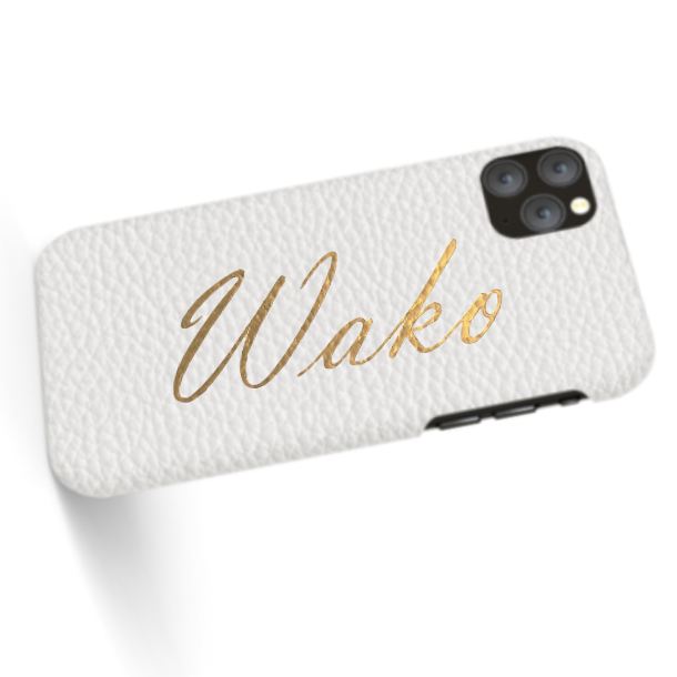 Custom Name iPhone with Premium Shrink Leather Case (Limited/8月分数量限定)