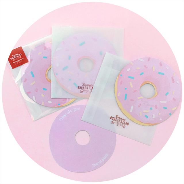 ピンクドーナツメッセージカード