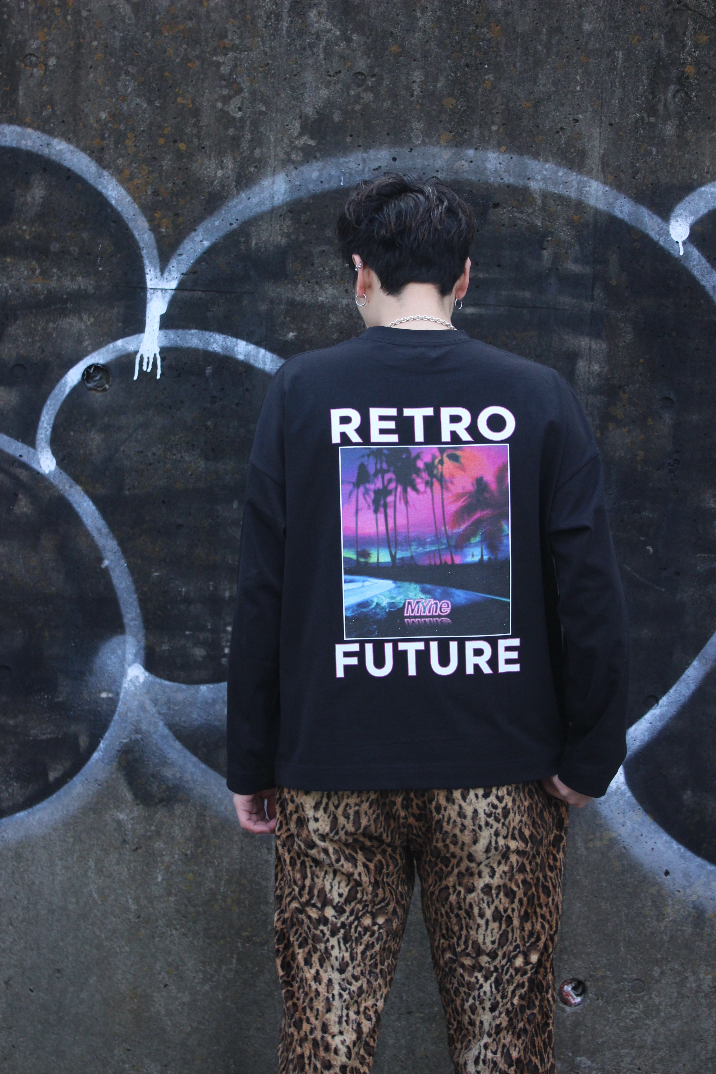 RETRO FUTURE L/S T-shirt / BLACK - 画像4