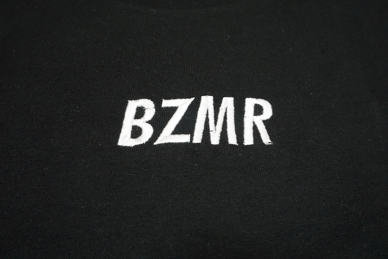 BZMRシンプル刺繍Tee (ブラック) - 画像2