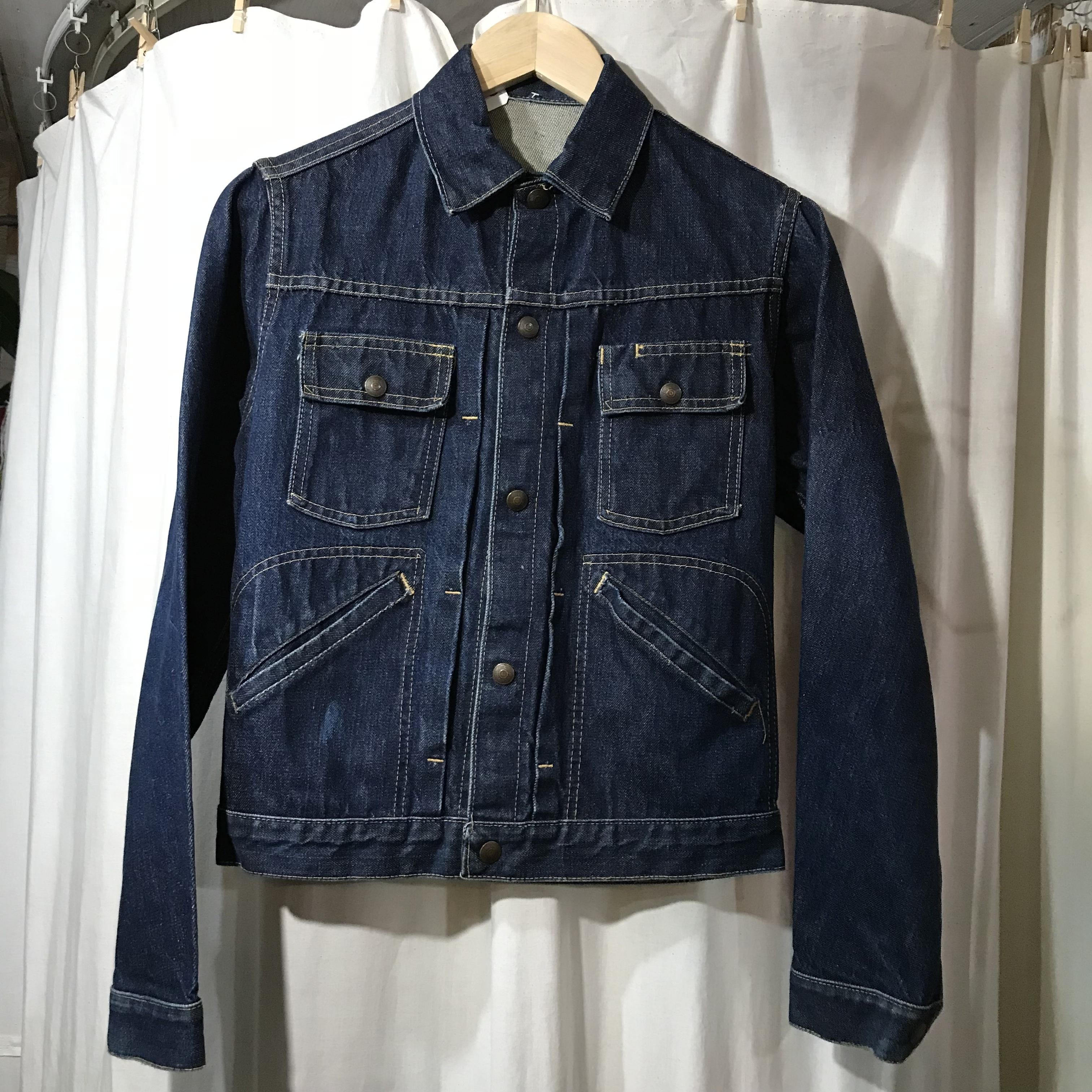 unknown vintage ミミ付きデニムジャケット メンズS