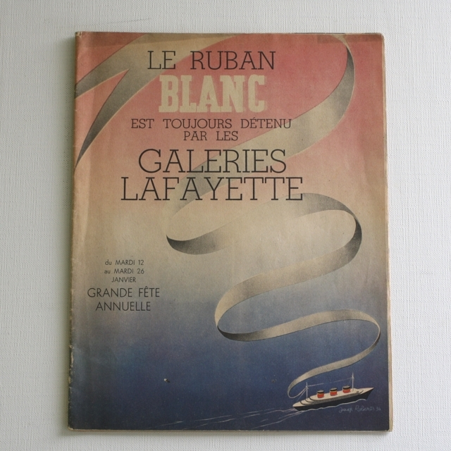 パリの百貨店 Galeries Lafayette カタログ・フランスアンティーク / vp0026