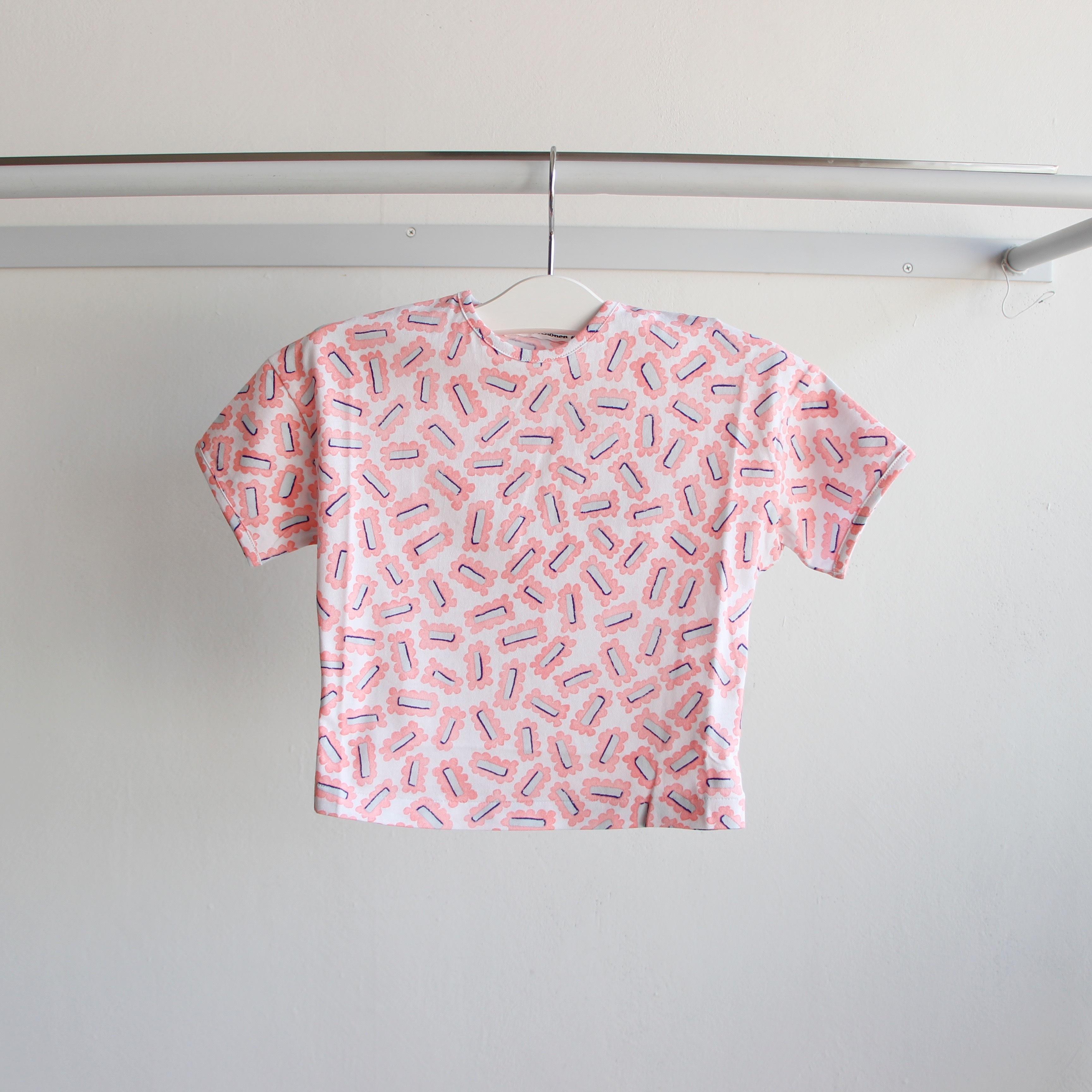 《mina perhonen 2019SS》biscuits Tシャツ / pink / 110-140cm