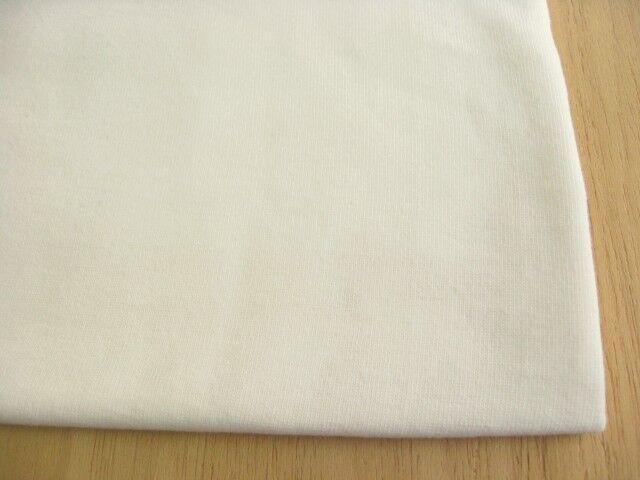 J&B定番 40/20綿ミニ裏毛無地 バニラ(綿かすはありませんが生成りに近い入りです) NTM-2611