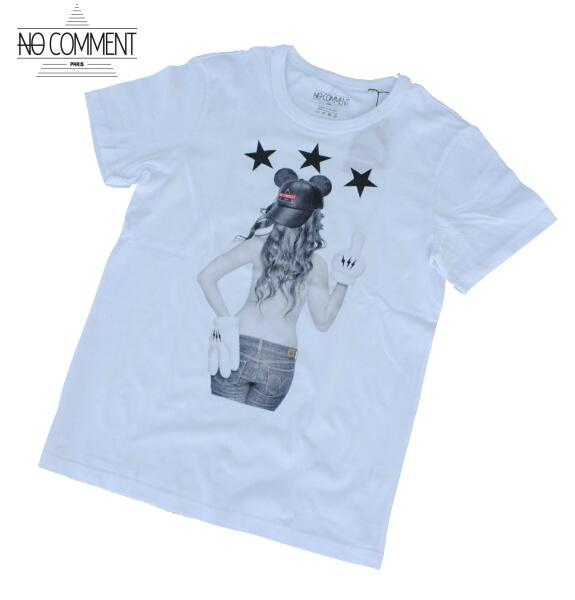 NO COMMENT PARIS ノーコメント パリ Tシャツ 半袖 クルーネック Tシャツ メンズ 2021年モデル 正規販売店 LTN258 ホワイト