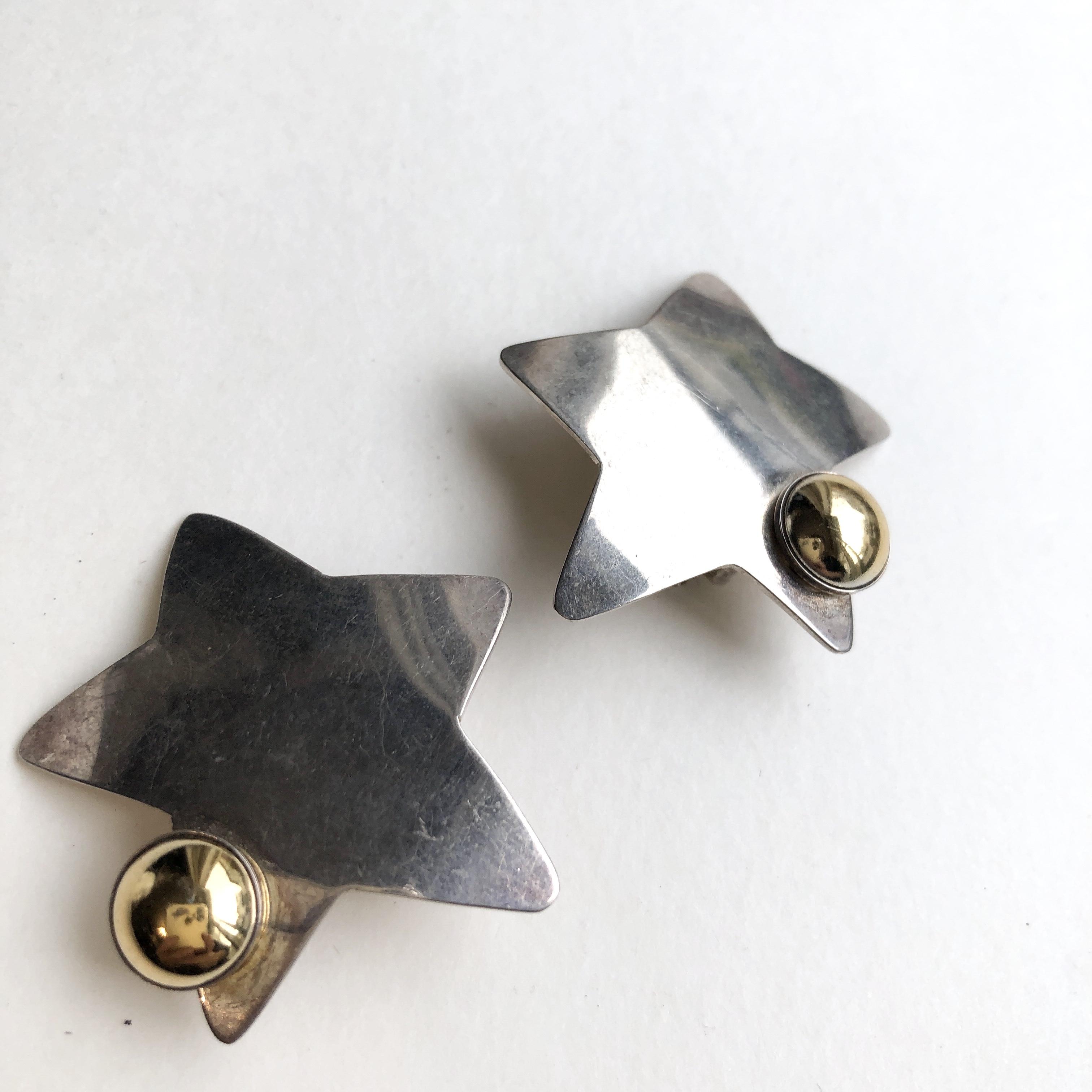 Vintage star  earrings B-074x