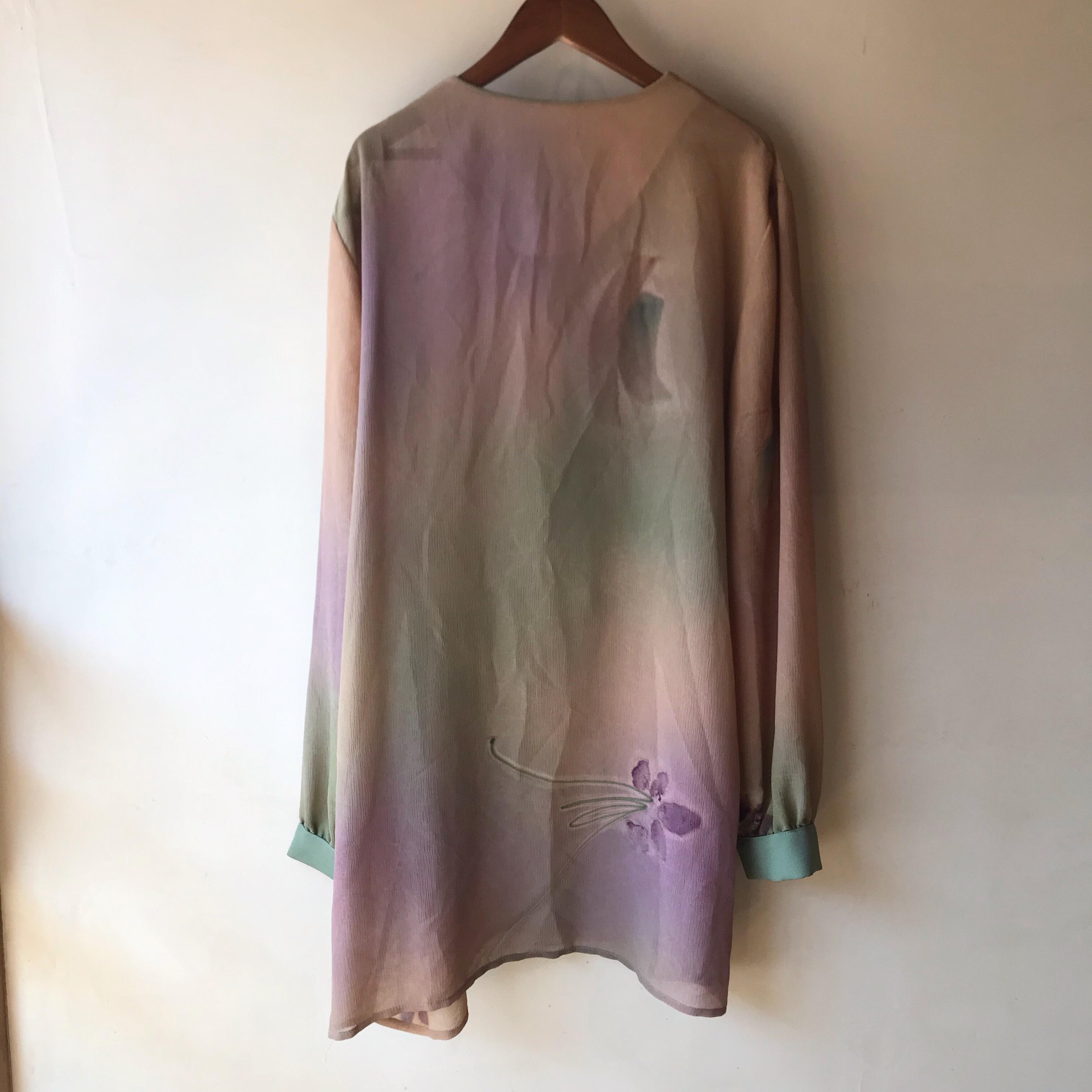 vintage sheer design shirt