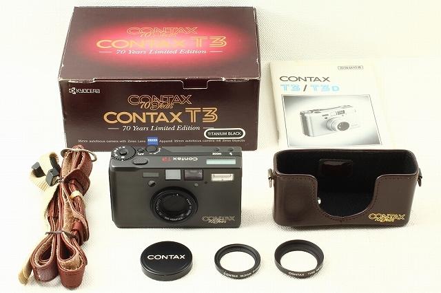 CONTAXコンタックス T3 70th Anniversary チタンブラック 元箱 外美品ランク