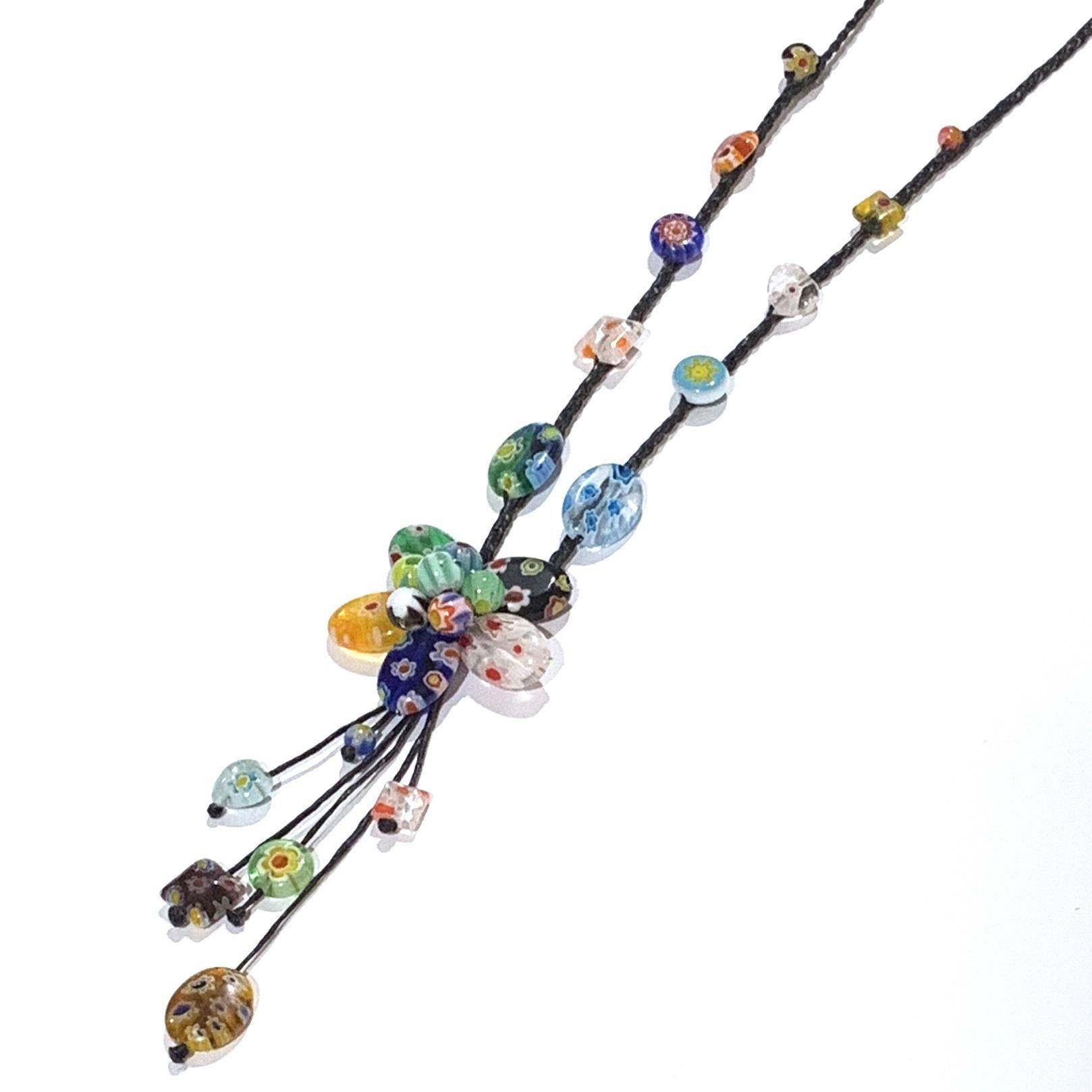 acc-033 ベネチアングラスの花ネックレス
