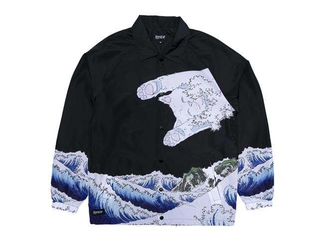 RIPNDIP|The Greatest Wave Coaches Jacket (Black)