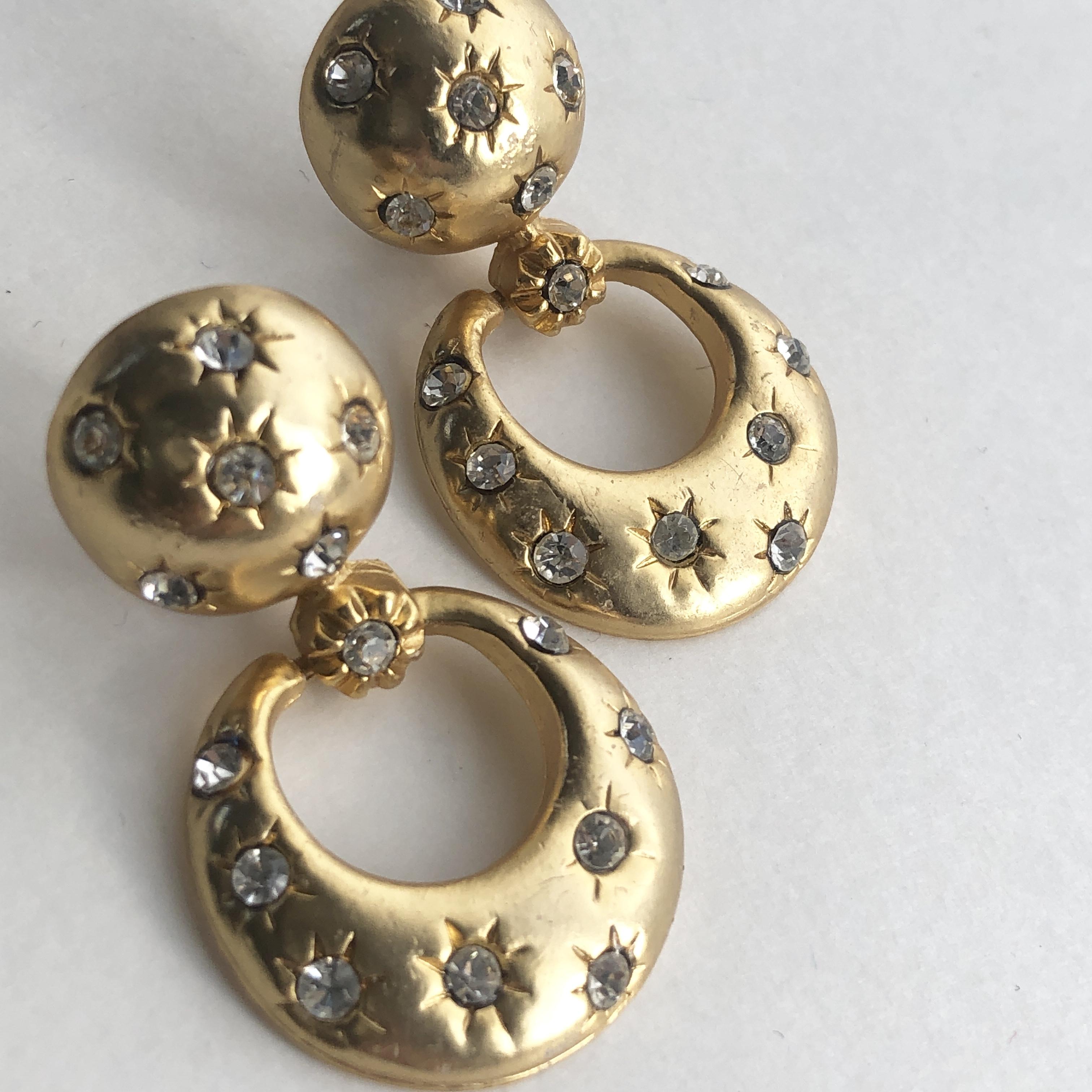 Vintage bijou ring earrings No.704*