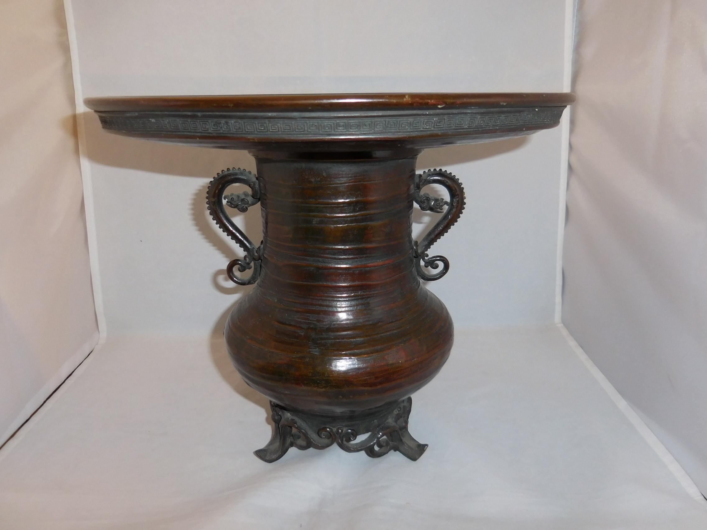 薄端花器 copper and multi-metal vase