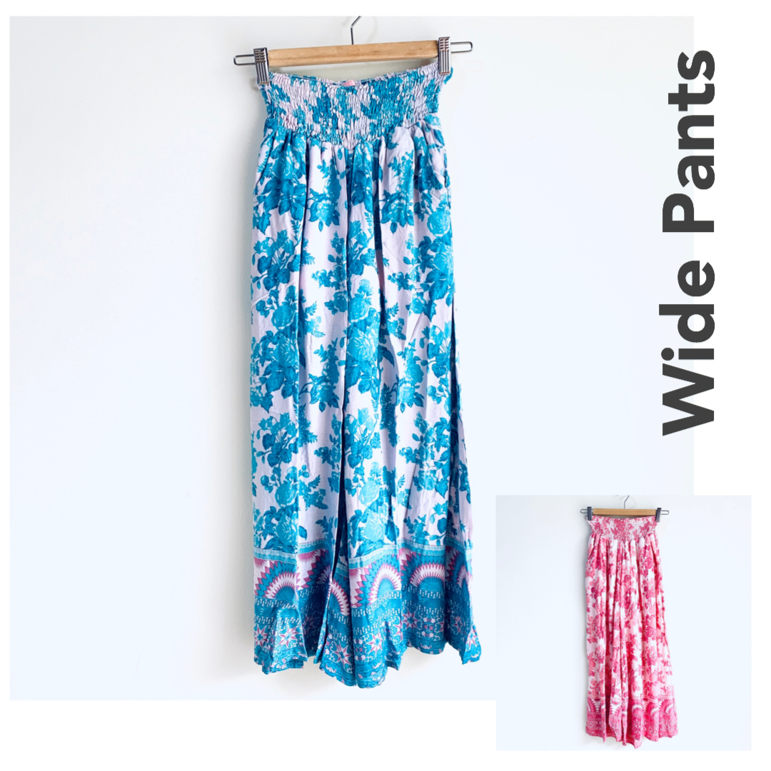 Wide Pants Floral ワイドパンツ