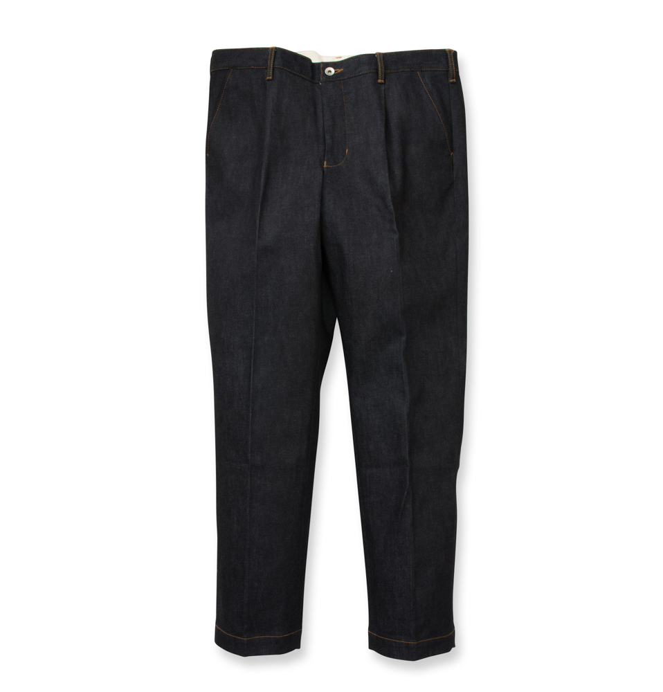 【SON OF THE CHEESE】Denim slacks(NAVY)