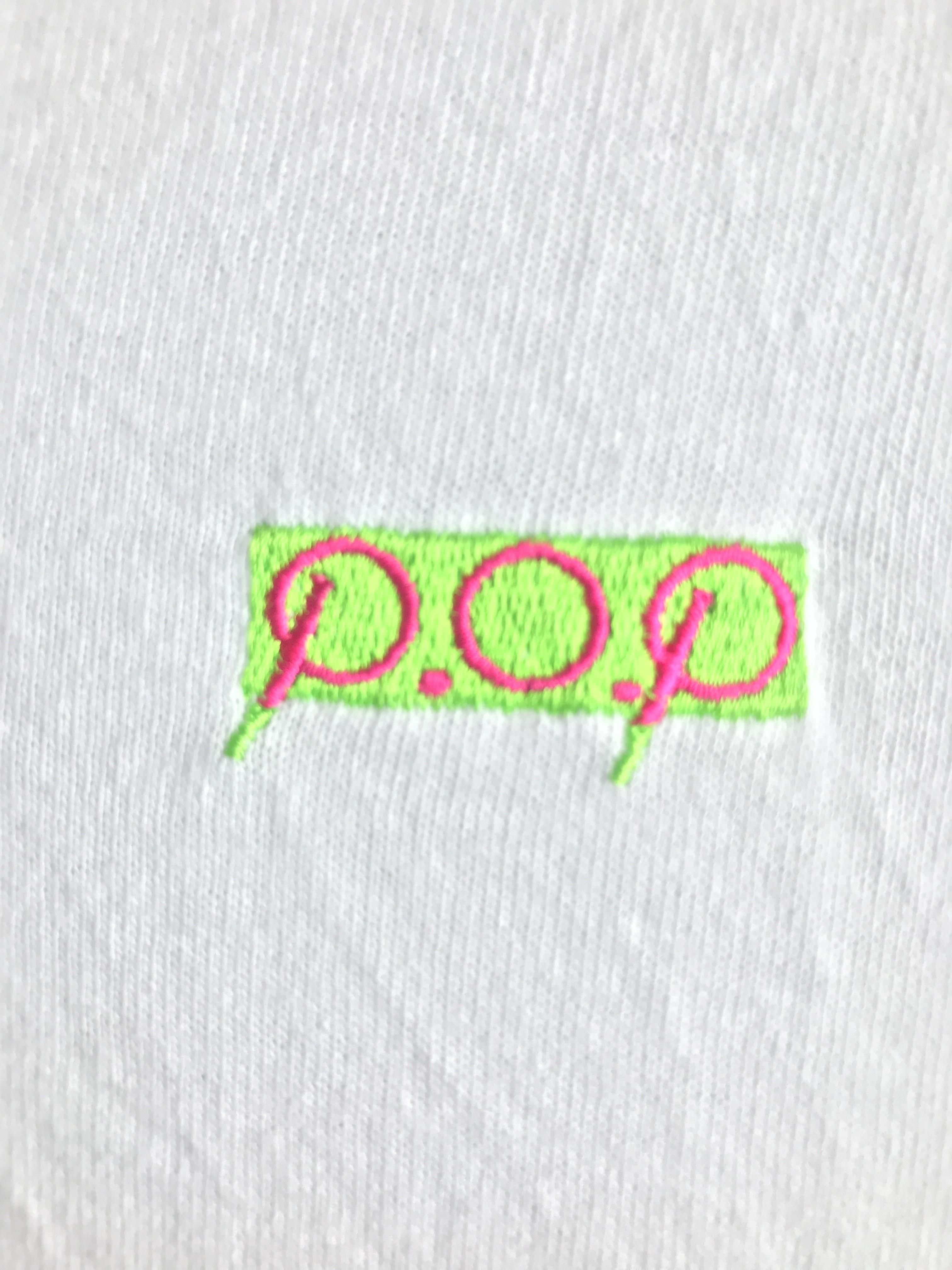 P.O.Pボックスロゴ刺繍 Tシャツ(ホワイト) - 画像2