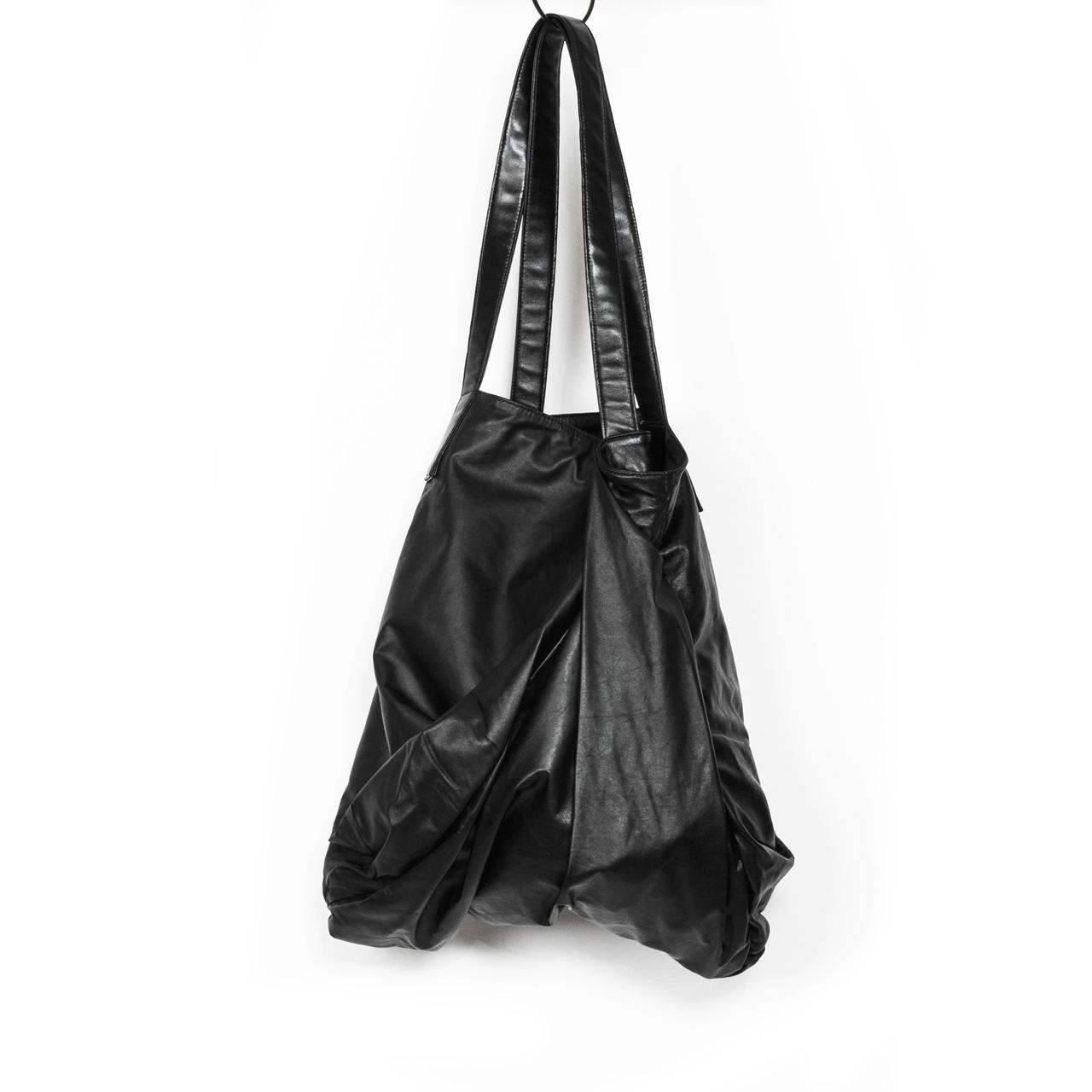697BGU2-L-BLACK / レザートートバッグ