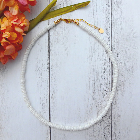 White Clamshell Necklace