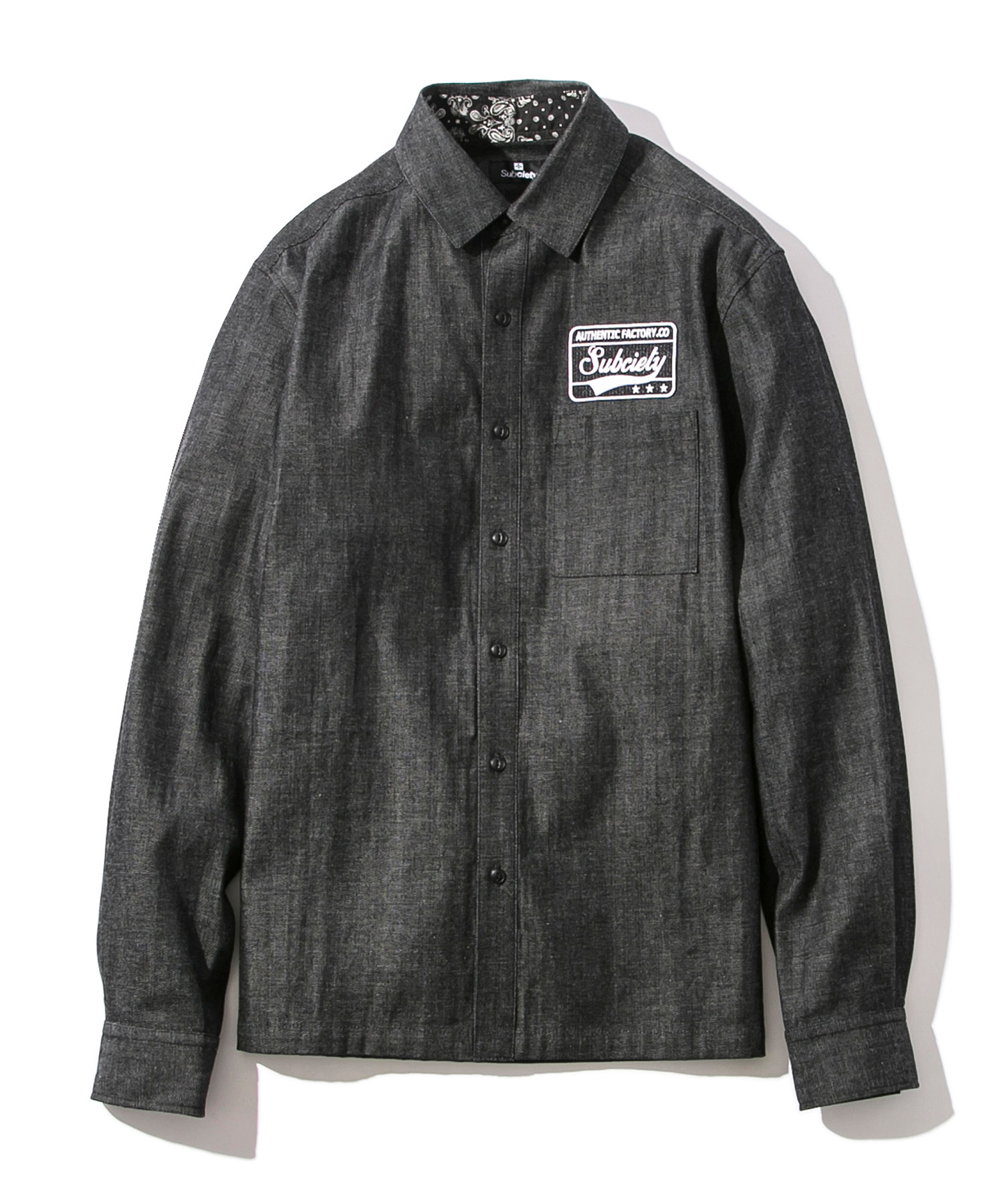 【Subciety | サブサエティ】EMBLEM SHIRT DENIM L/S