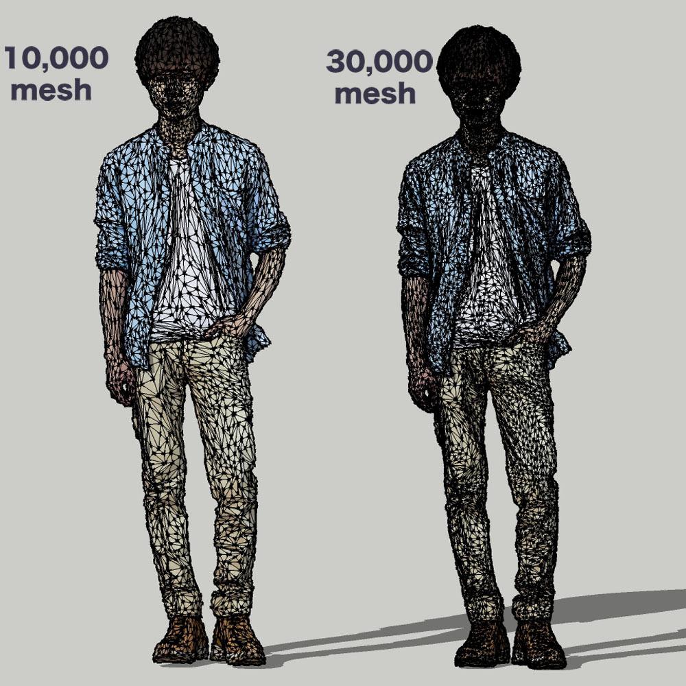 SketchUp素材 3D人物モデル ( Posed ) 033_Toru - 画像3