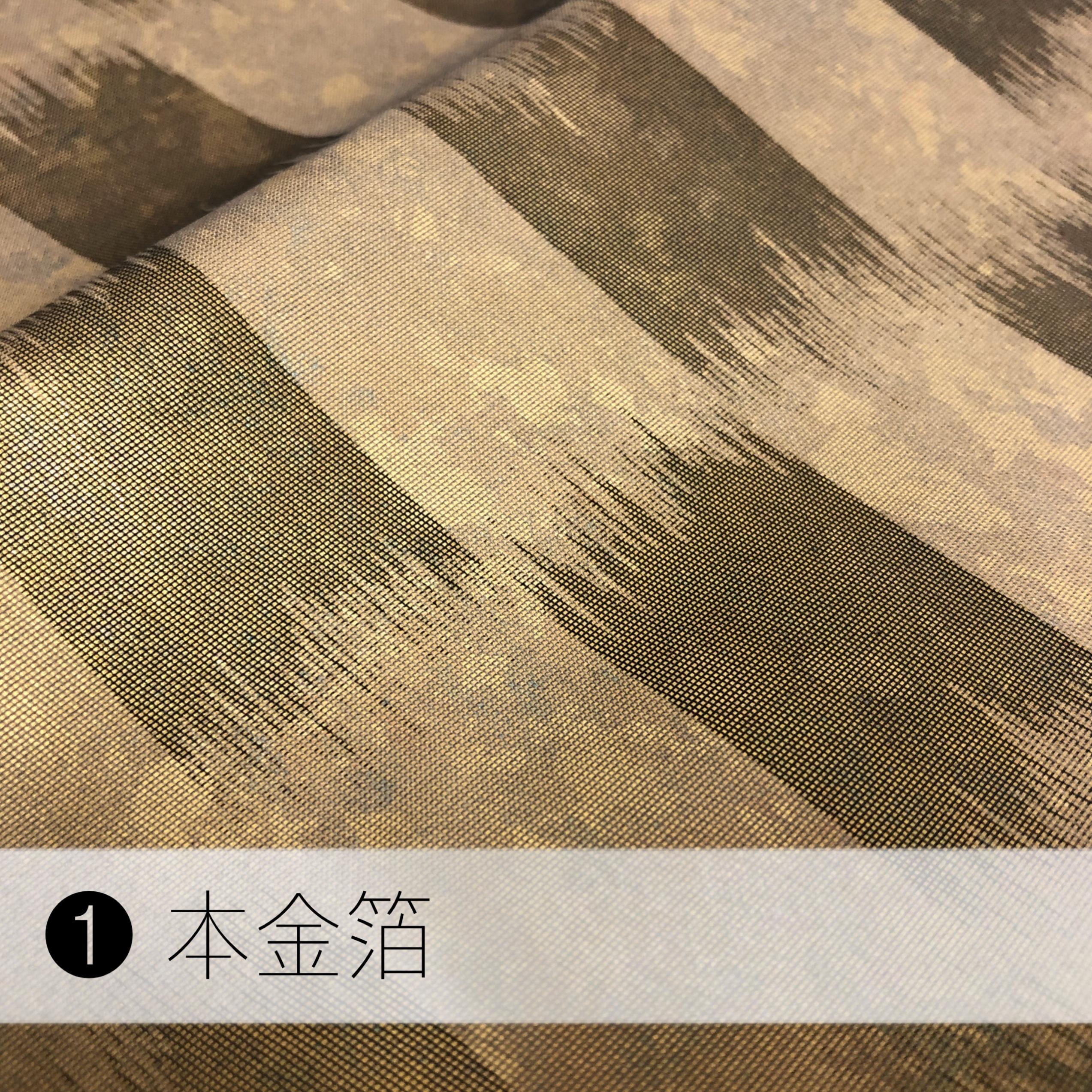 リッチバレッタ/最高級生地を使用!本金箔/プラチナ箔/着物(浴衣/和装/和服)に似合うヘアアクセサリー