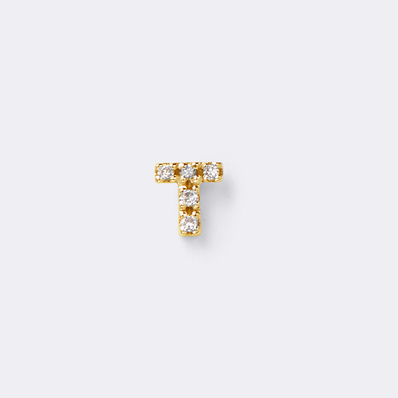 Initial Diamond Pierce K10YG(イニシャルダイヤモンドピアス K10イエローゴールド)