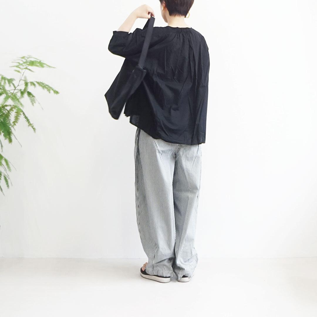 【再入荷なし】 NARU ナル サイロプレミアム×ローンワッシャーVネック6分袖プルオーバー (品番629211)