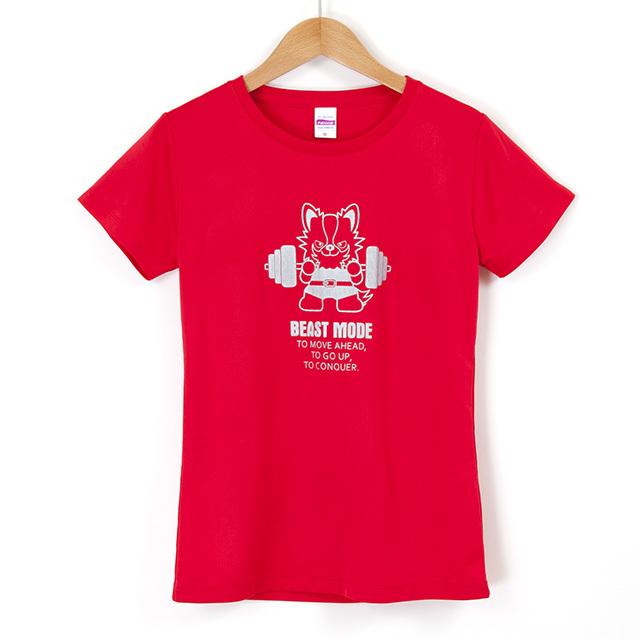 【BEAST MODE】スポーツ特化Tシャツ(ドライシルキータイプ)レディース チワワ
