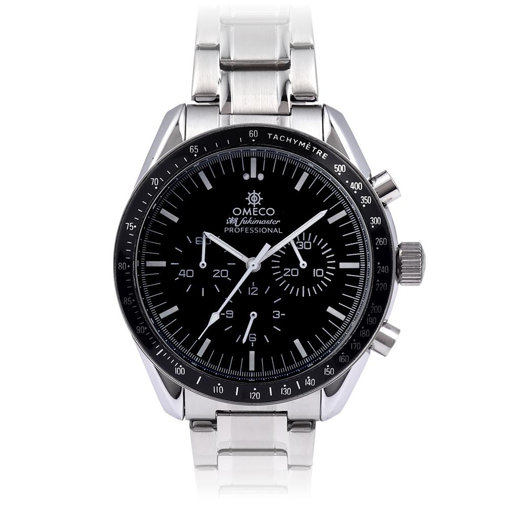極上のクロノグラフ メンズ 腕時計【シルバー】日本製 ムーブメント 銀時計 [送料全国一律0円]