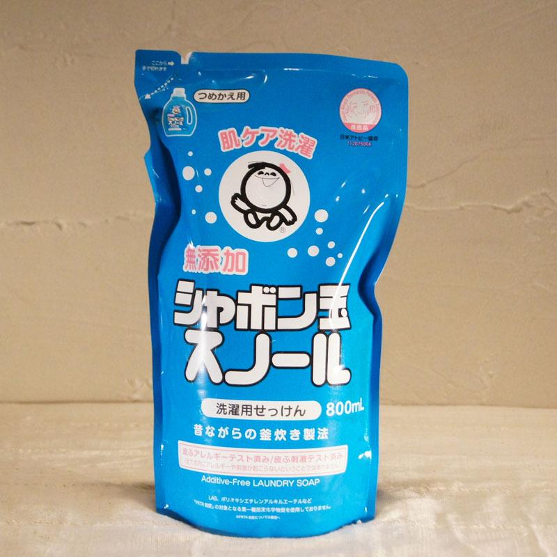 【シャボン玉石けん】洗濯用せっけん シャボン玉スノール(800ml 詰め替え用)