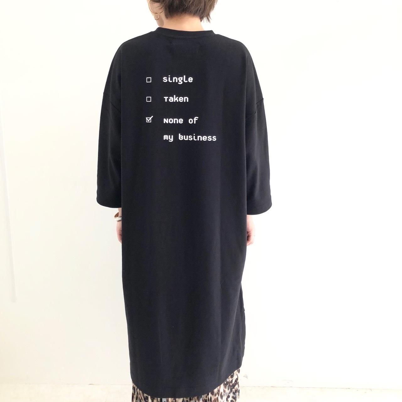【 THOMAS MAGPIE 】- 2193808 - バックプリントワンピース