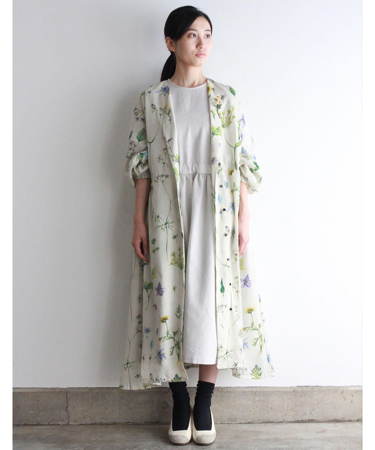 【予約商品】hatake no hana ドレスコート(evi612 ホワイト・レッド・ネイビー)