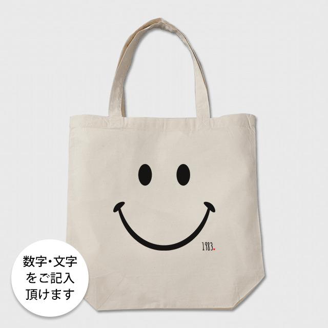 数字・文字が入るトートバッグ(ニコちゃん)