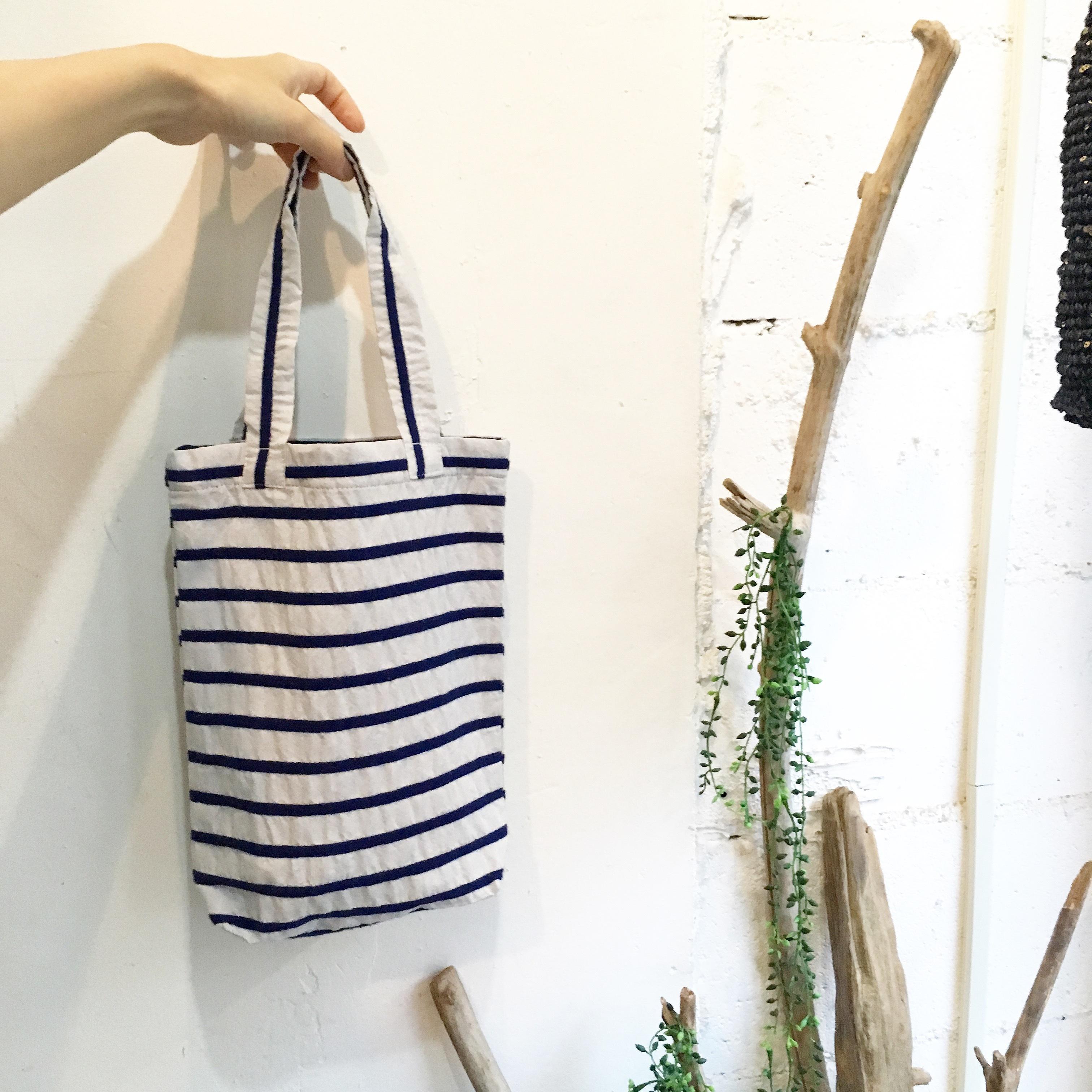 【maco】トートbag Sサイズ(青ボーダー)