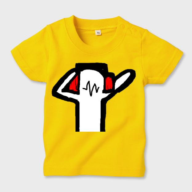 anotherDJ お子様用・イエローTシャツ キッズ70 - 画像1