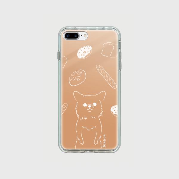 <受注制作>iPhone 7Plus.8Plus 大きめプラスサイズ ミラーケース チワワ