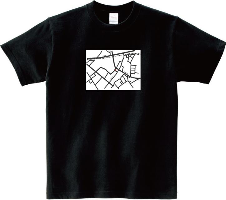 どこかの地図(黒)