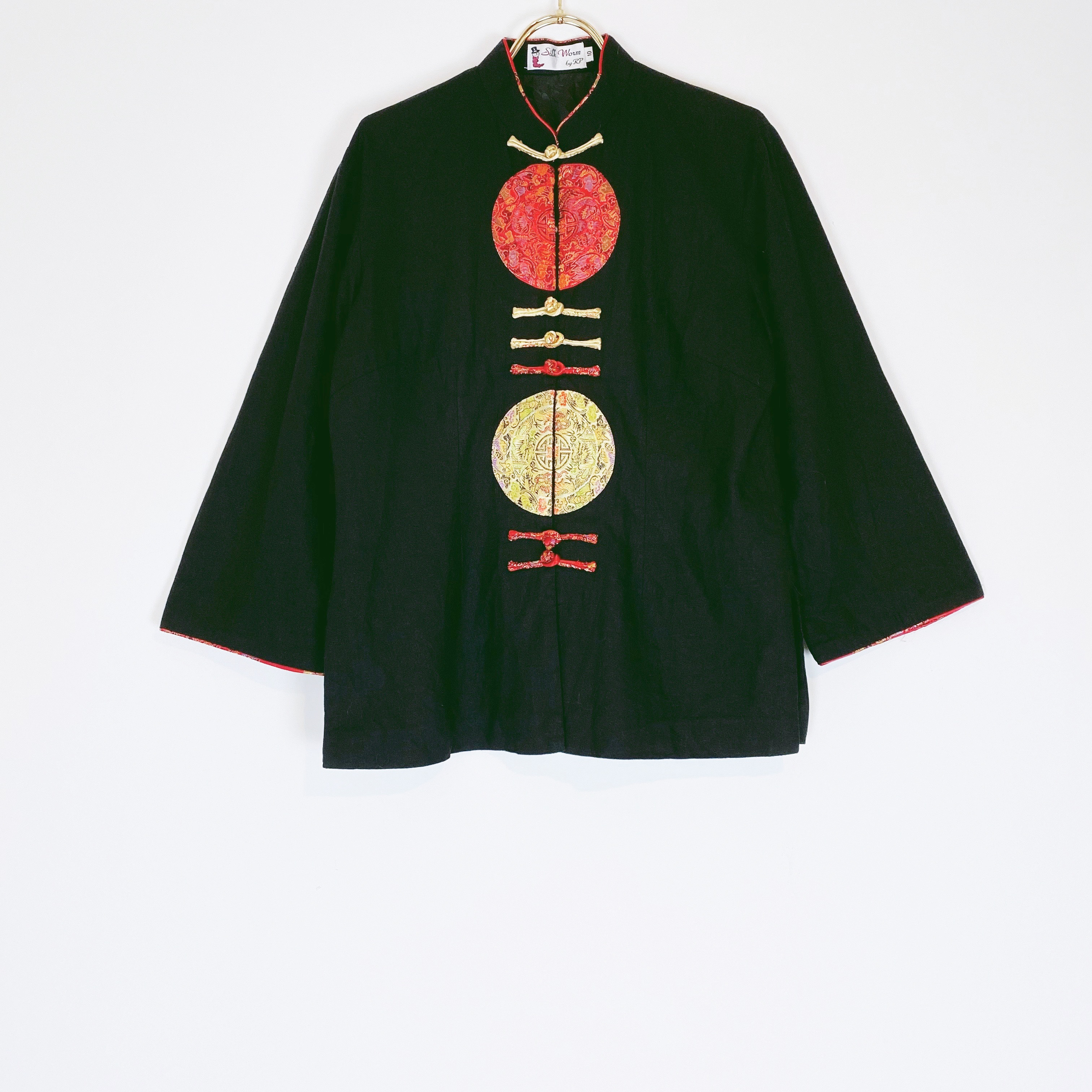 ◼︎90s Chinese style linen jacket from U.S.A.◼︎